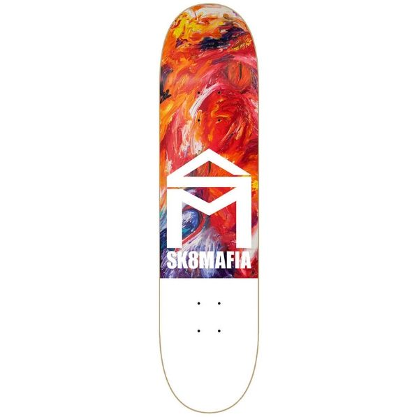 Sk8mafia House Logo Skateboard Deck (8.25_ - Oil High) (1)