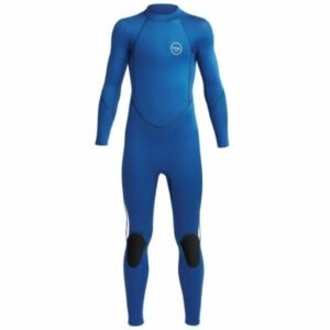 3/2 kids Axis Flatlock Wetsuit Blue White